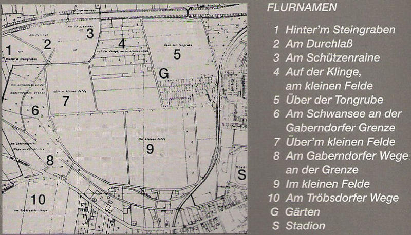 Scan Bürgerinformation aus Weimar-West - Flurkarte 1937